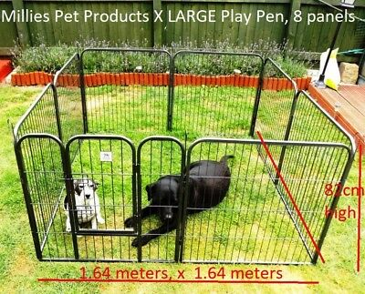 """Millies"" Heavy Duty 8 Piece Puppy Dog Play Pen Run Enclosure Welping Pen Play"