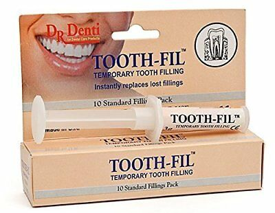 Dr Denti Tooth Fil, Temporary Filling, Dental Hole Repair Kit, 10 Fillings