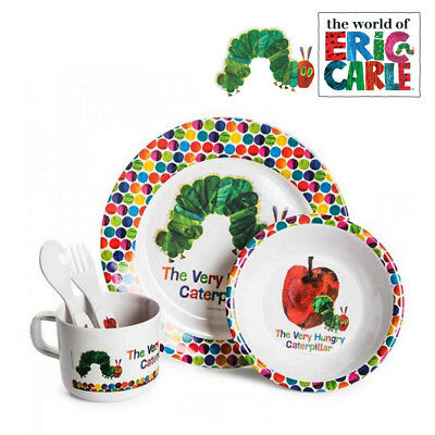 The Very Hungry Caterpillar 5 Pc Dinner Set Baby Feeding Gift Set New Born Xmas