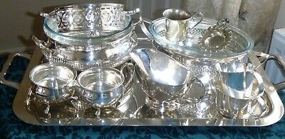 Collection Of Silver Plated Items Including Butler Tray, Serving Dishes Etc