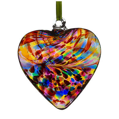 Glass Friendship Heart, 8cm Multicoloured By Sienna Glass