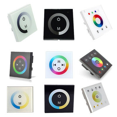 DC12-24V Wall Mount Dimmer Touch Panel LED Controller For 5050 3528 Led Strip
