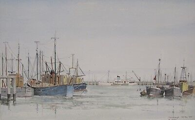 EARLY 20th CENTURY, Watercolour, SCARBOROUGH, signed D. ADDEY, dated 1977