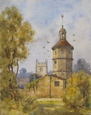 WALTER ROSSITER (1871-1948), Watercolour, DOVECOTE, WIDCOMBE HOUSE, signed, 1909