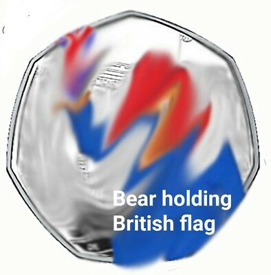 Padd ing ton  50p 2018 coin stickers, image will vary from image shown x12