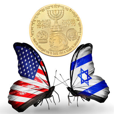 Israel 70th Anniversary Commemorative Coin Trump gold Plated Coins