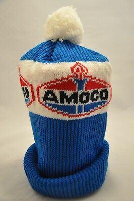 #2310C- Amoco Gas And Oil Stocking Cap, Hat, Beanie - Standard Oil - Pom-Pom!