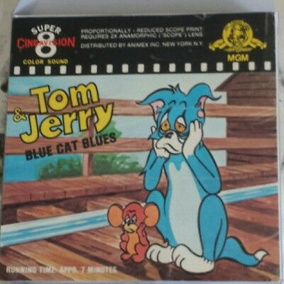 Blue Cat Blues. Cinemascope Tom And Jerry Super 8 Col / Snd