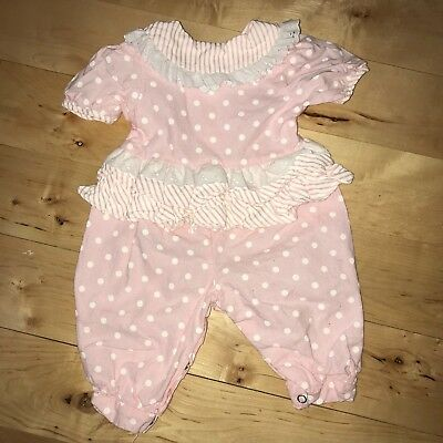 Vintage Evy of California Baby Girl Romper Jumpsuit Size 6-9 months Easter Doll