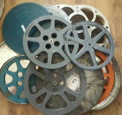 Large Box Of 16Mm Mixed Spools - Cans- And Films