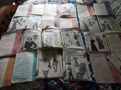 vintage stretch and sew sewing pattern - Lot of 23