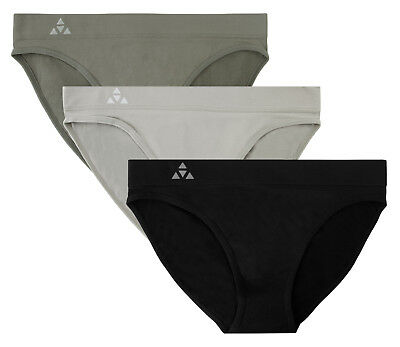 65261ac96a8 BALANCED TECH WOMEN S 3 Pack Seamless Low-Rise Bikini Panties ...