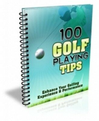 100 Golf Tips PDF eBook with Master Resell Rights