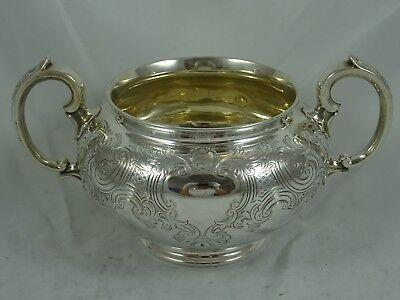 VICTORIAN silver SUGAR BOWL, 1844, 355gm - Barnard Family