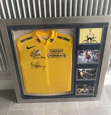 Lance armstrong signed Yellow Jerseys With Certificate Of Authenticity.