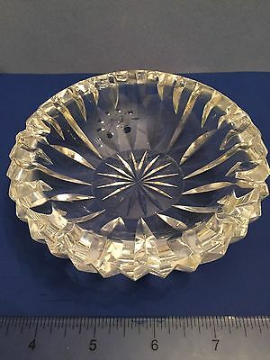 STUNNING HIGH LUXURY CRYSTAL Vintage 30's French? Art Deco Glass CRYSTAL ASHTRAY