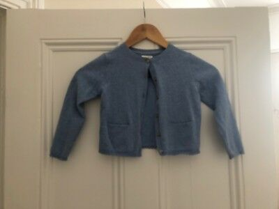 Girls Pretty Light Blue Long Sleeved Cardigam From Next Age 3-4 Years