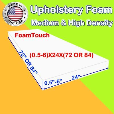 "Upholstery FoamTouch Foam Seat Cushion Replacement - 24"" x 72"" & 24"" x 84"""