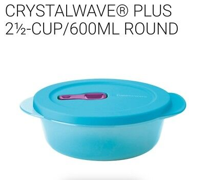 FREE SHIP Tupperware CrystalWave PLUS 2 1/2 Cup On Go lunch ReHeat Microwave NEW