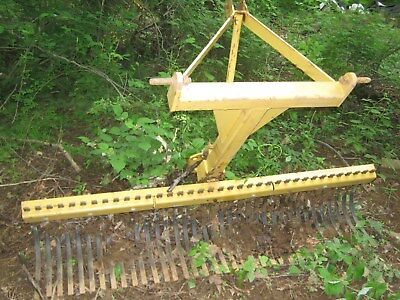 County Line (Tractor Supply) 6 ft landscape/rock rake, 3-pt hitch