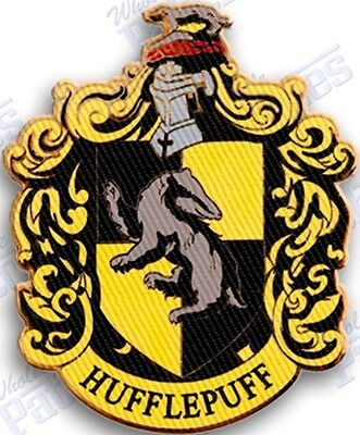 """HUFFLEPUFF  iron on embroidered patch 3.0"""" X 2.5"""" HARRY POTTER HOGWARTS wizard"""