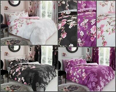 New Duvet Cover with Pillow Case Quilt Cover Poly-Cotton Size Single Double King