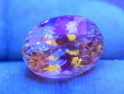 11.50 Crt Fluorescent Rare Clean Sparkling Natural Yellow Kunzite Gem From @afg
