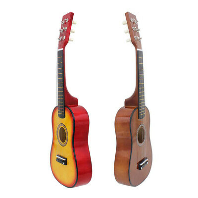 Professional 23'' Wooden Acoustic Guitar with Pick Strings for Beginner Kids