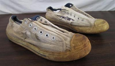 Destroyed Vintage 1970's Converse ABA USA Canvas Sneakers Sz 8