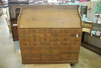 Antique Library Periodical 36 Drawer Cabinet