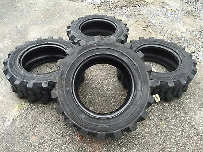 4 NEW 10-16.5 Camso Xtra Wall skid steer tires For Bobcat, CAT,John Deere & more