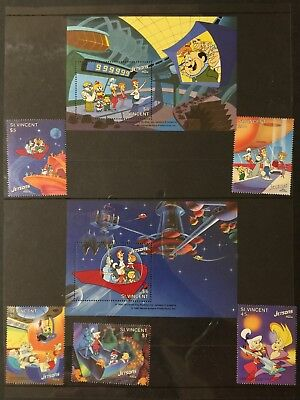 St. Vincent Jetsons the Movie vintage collection of stamps