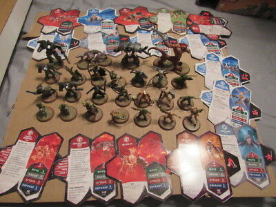 Hot Of 25 Heroscape Figures With Stat Cards Free Shipping