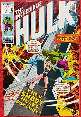 INCREDIBLE HULK 142 MARVEL 1971 2nd appearance of Valkyrie
