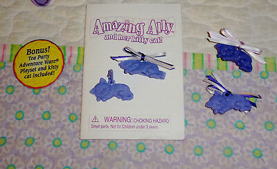Playmates Amazing Ally and Her Kitty Cat Booklet, Necklace Charm, Barrette, Plug