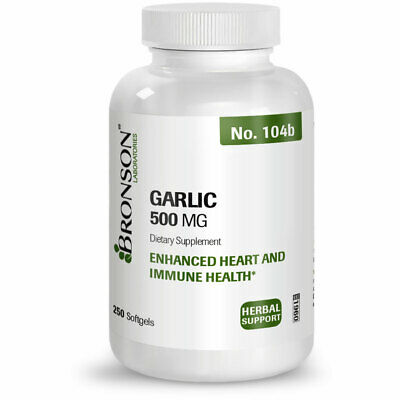Bronson Garlic Oil Pills 500 mg, 250 Softgels