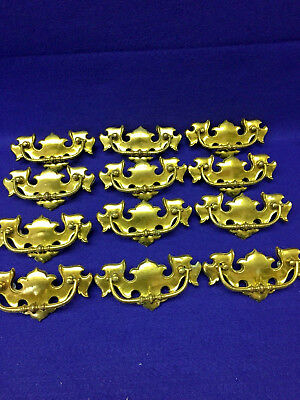 """Lot of 16 Vintage Brass Chippendale Style """"Liberty"""" 5"""" Drawer Pulls with Screws"""