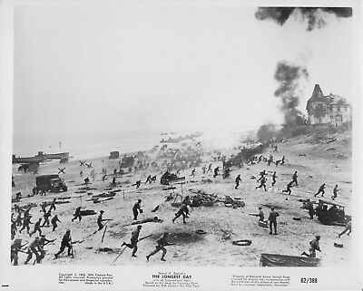 10 original 8x10 THE LONGEST DAY1962 EDDIE ALBERT - PAUL ANKA - ARLETTY - F. DUR