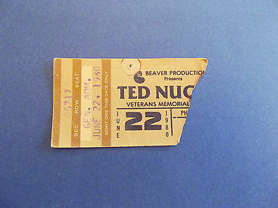 Vintage Ted Nugent Ticket stub 1980