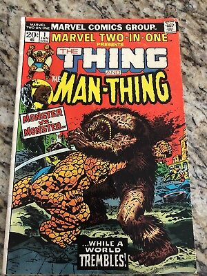 MARVEL TWO-IN-ONE #1 FIRST EDITION Bronze Age Classic Thing Vs. Man-Thing!!