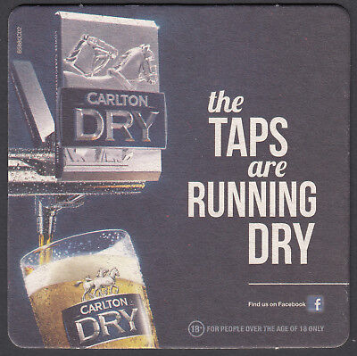 "2 x ""CARLTON DRY""   BEER COASTERS"