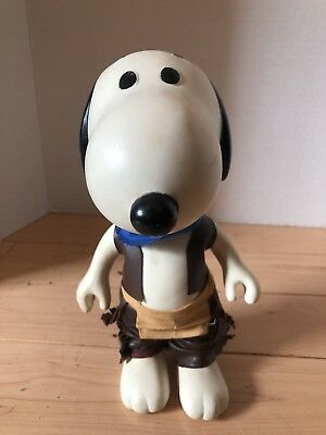 """Vintage 1958-1966 United Feature Syndicate, inc 8.5"""" SNOOPY KTE Leather"""