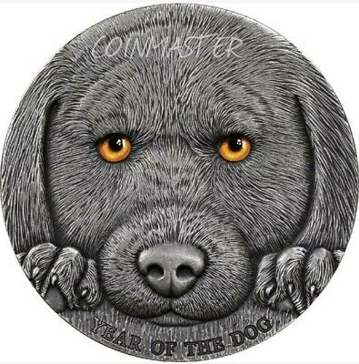 2018 3 Oz Silver 3000 Francs Chinese Lunar YEAR OF THE DOG Coin, Cameroon.