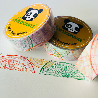 Washi Tape Citrus Slices 15Mm X 10Mtr Planner Wrap Mail Art Craft Scrap