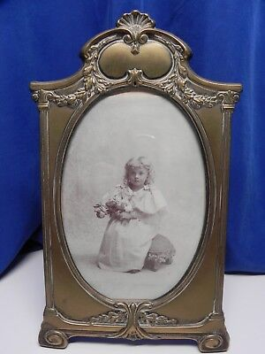 Beautiful Antique Vintage Brass Ornate Picture Photo Frame