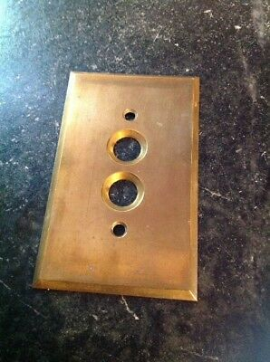 Solid Brass Push Button Wall Light Switch Cover Plate Perkins USA