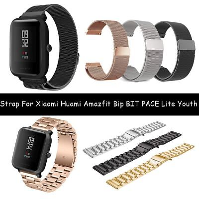 20mm  Magnetic Metal Strap for Huami Amazfit Bip BIT PACE Lite Youth Watch