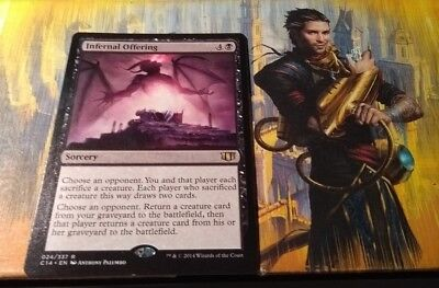 INFERNAL OFFERING Commander 2014 C14 024/337 RARE Mtg Magic the Gathering NEW