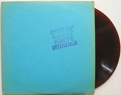 BOB DYLAN Best Of Great White Wonder RED CLOUDY COLORED VINYL TMOQ