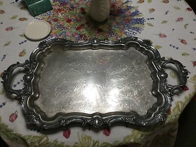 Large Heavy Federal Silver Co. Serving Tray